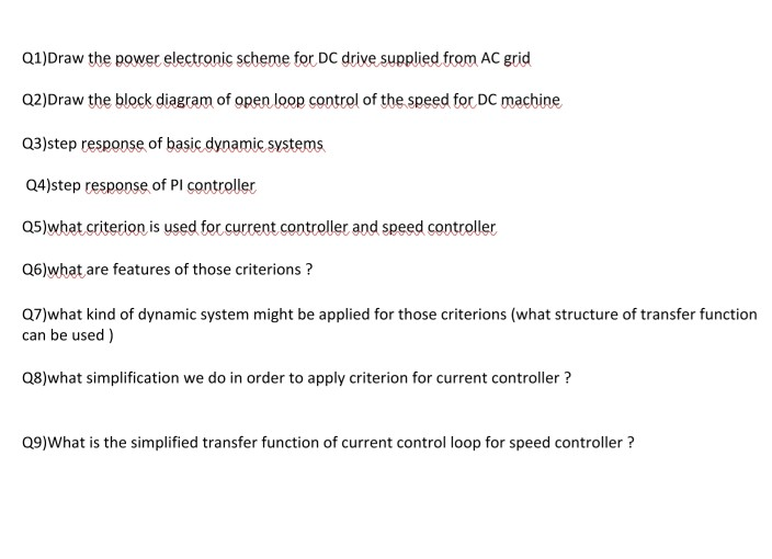 Solved: Q1)Draw Tbe Power Electronic Scheme For DC Drive S