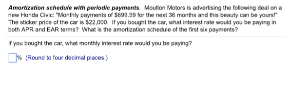 solved amortization schedule with periodic payments moul