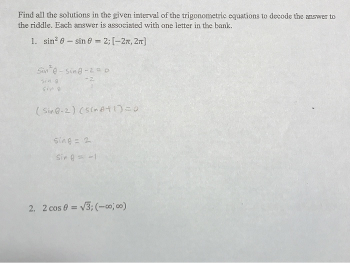 Solved: Find All The Solutions In The Given Interval Of Th