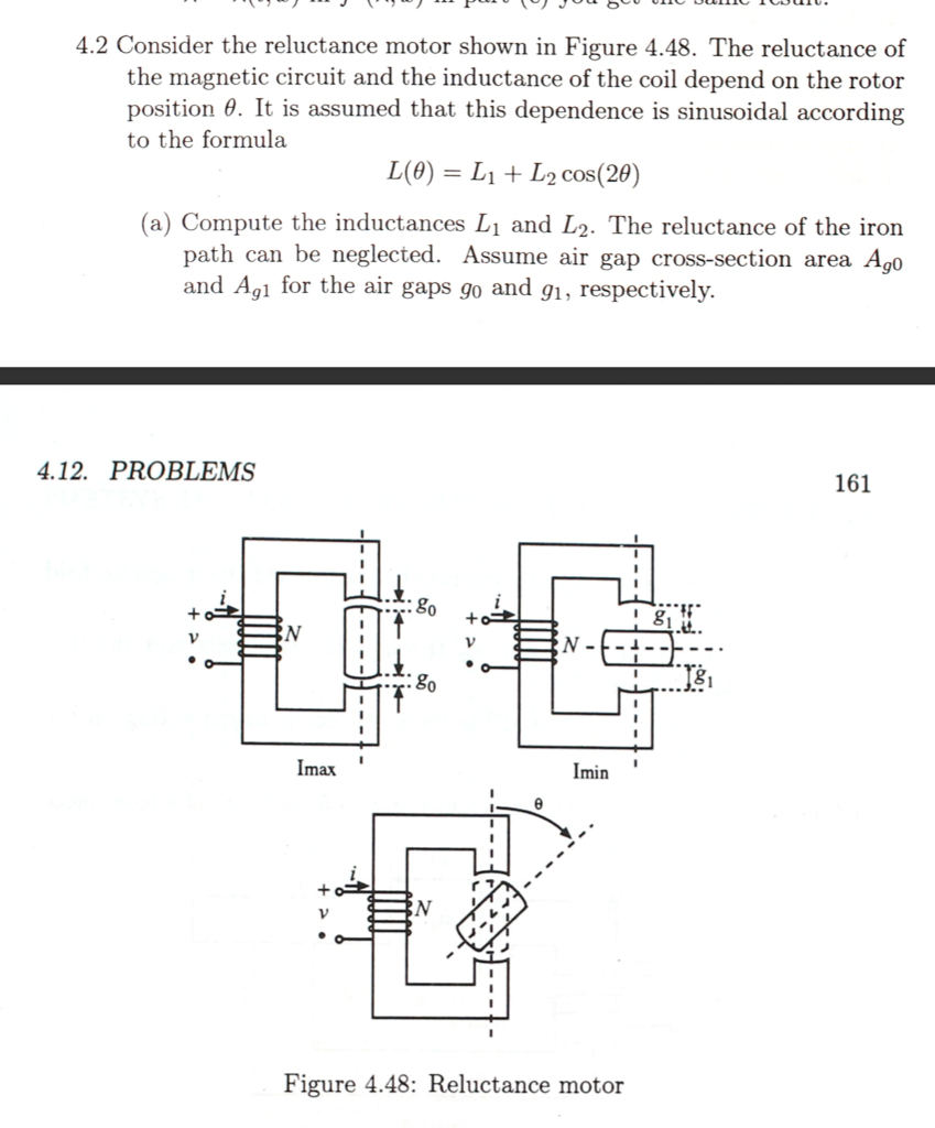 solved 4 2 consider the reluctance motor shown in figure Magnetic Generator Schematics
