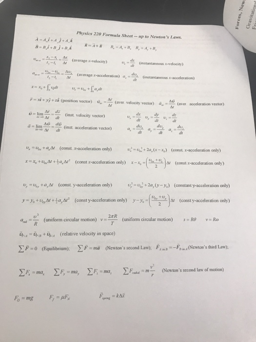 Solved Worksheet On Ch 6 And 7 Newtons Laws 1 A Block