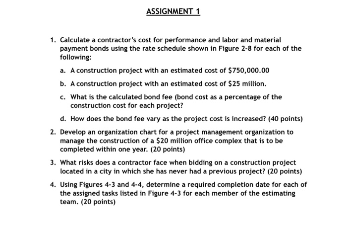 calculate a contractors cost for performance and labor and material payment bonds using