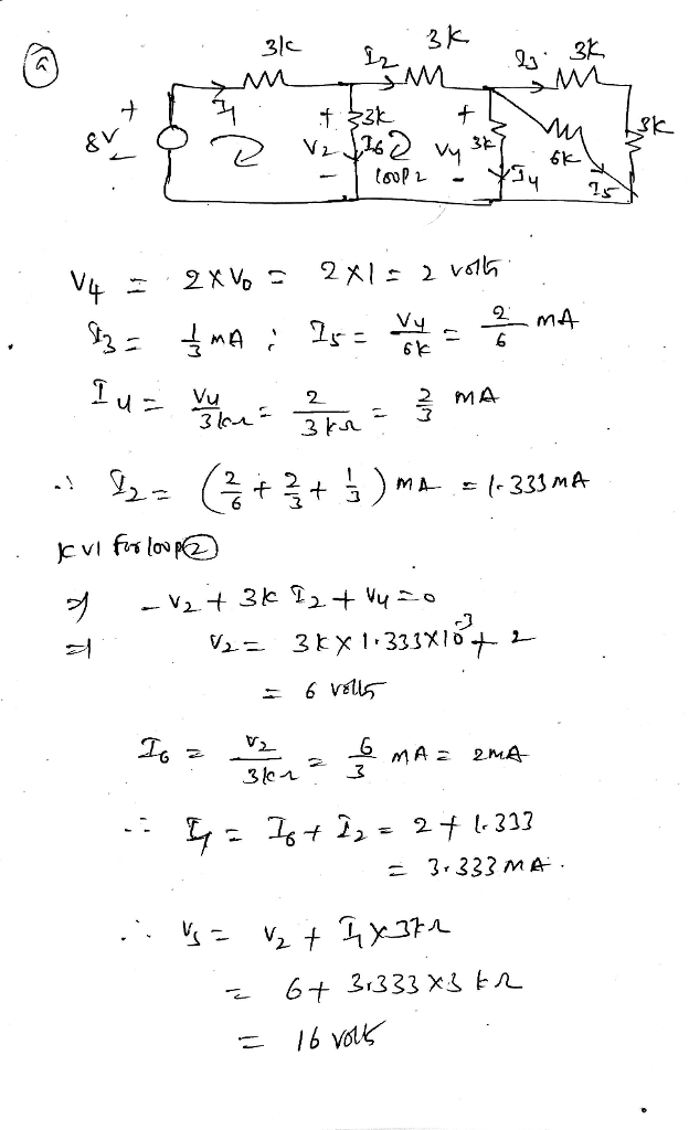 Solved Prob 1 Find The Voltage Vo In The Circuit Below By