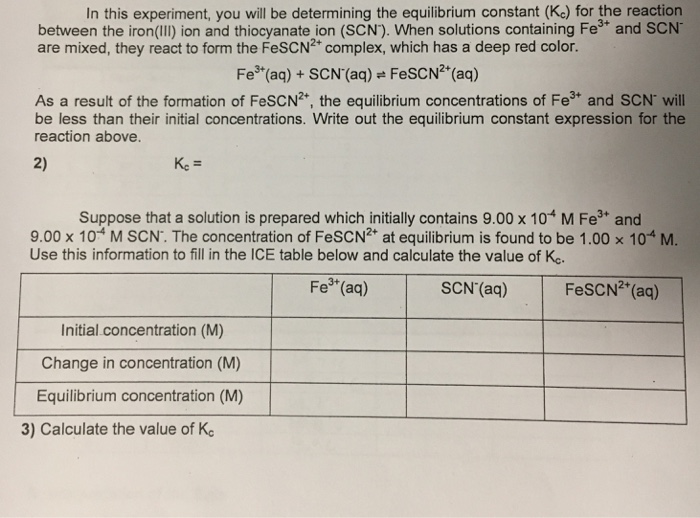 Solved: In This Experiment, You Will Be Determining The Eq