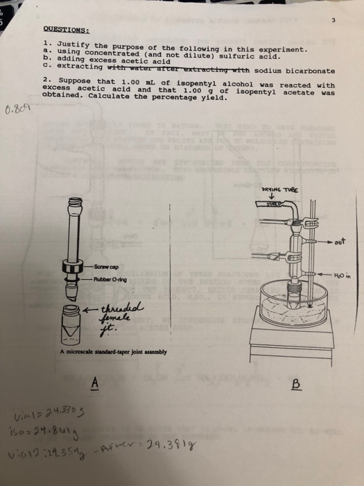 Solved: PROCEDURE: 1  Weigh (tare) An Empty 5 Ml Conical V