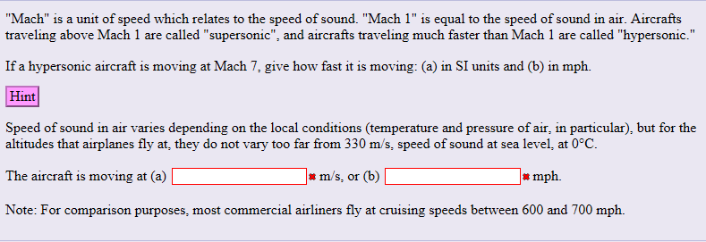 Mach Is A Unit Of Sd Which Relates To The Sound 1