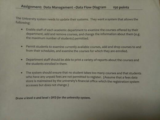 Assignment: Data Management -Data Flow Diagram 150