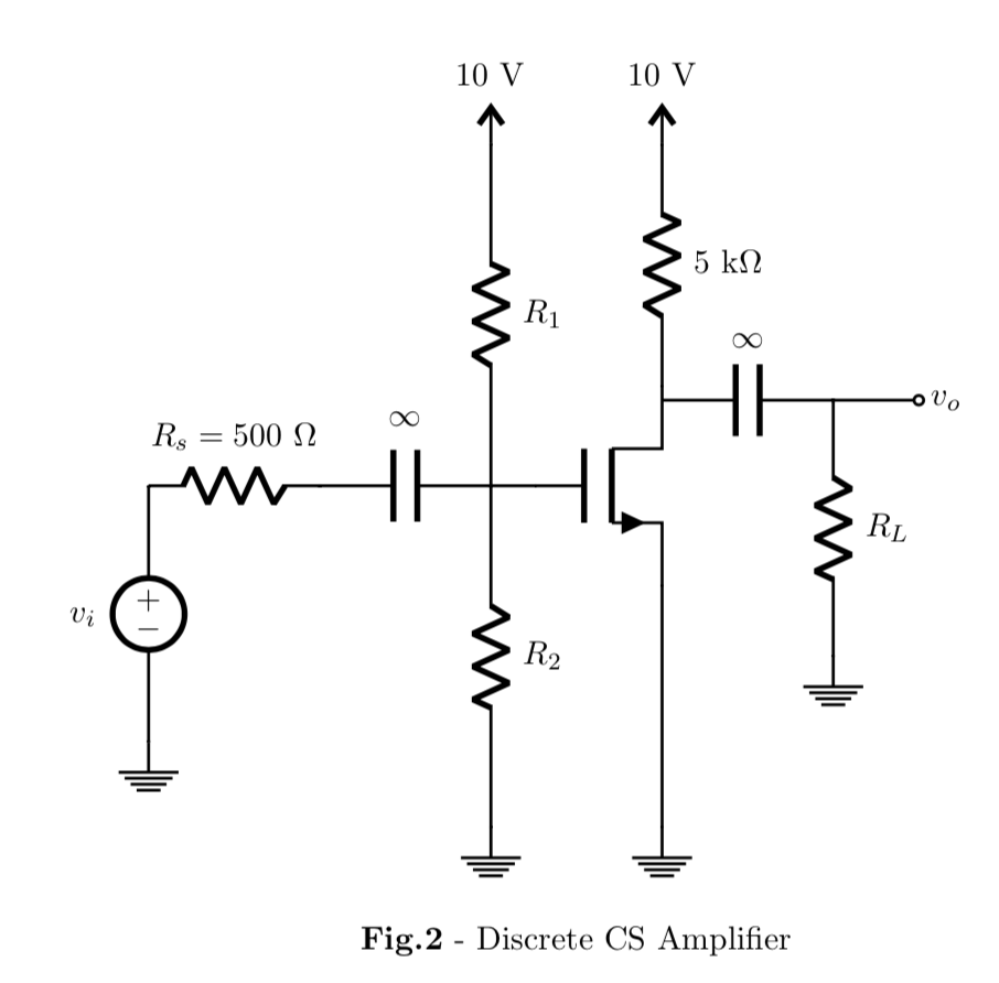 Solved 3 16 Pts Consider The Cs Amplifier Shown In Fig Discrete Semiconductor Circuits Electronics Textbook See More Show Transcribed Image Text Fig2 Below Let Vihn 1 V Kn 05 Ma V2 And 001 I For Nmos