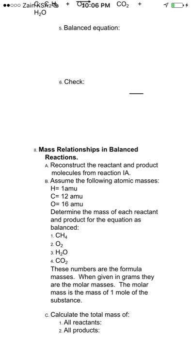 Solved: LAH286   Balancing Equations With Models    ooo Za