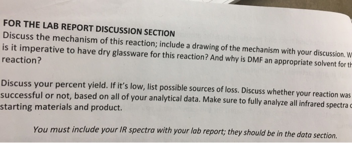 how to make a good discussion in lab report