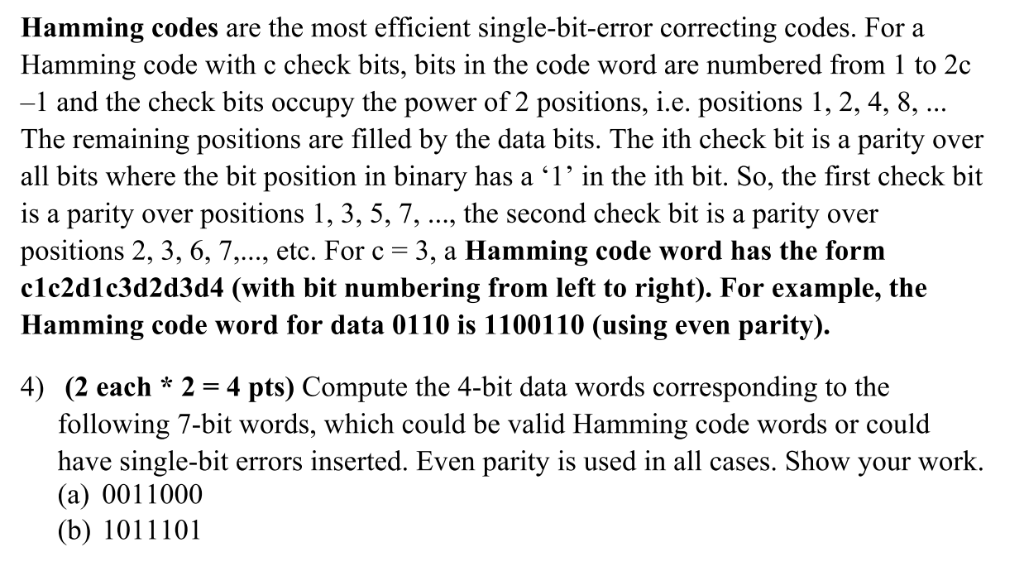 Solved: Hamming Codes Are The Most Efficient Single-bit-er
