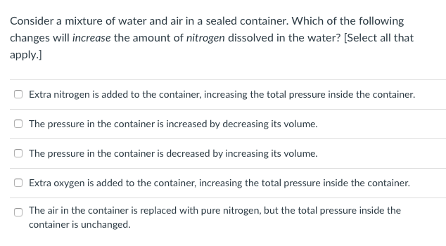 Solved: Consider A Mixture Of Water And Air In A Sealed Co
