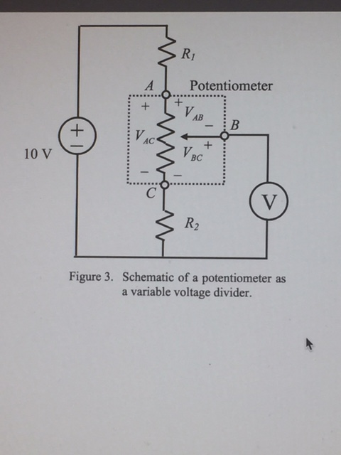 Fine Solved 1 For The Potentiometer Circuit In Experiment 1 Wiring Digital Resources Remcakbiperorg