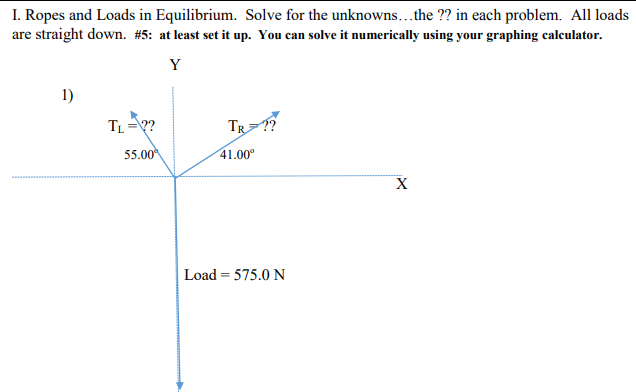 Solved: I  Ropes And Loads In Equilibrium  Solve For The U