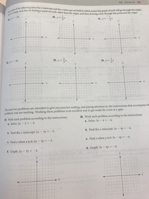 Solved 33 Exercise Set 263 Ach Or Each Line By Finding