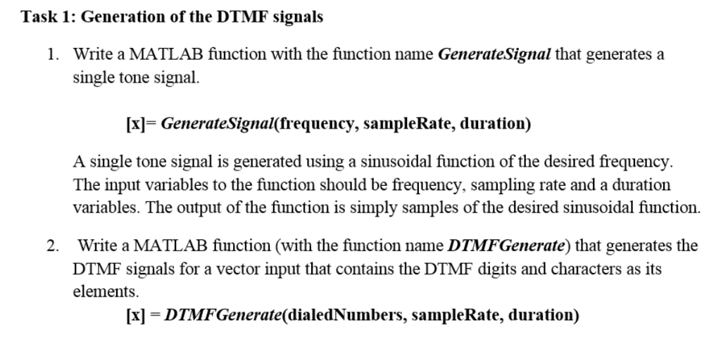 Lab 1: Generation And Detection Of Sinusoidal Sign