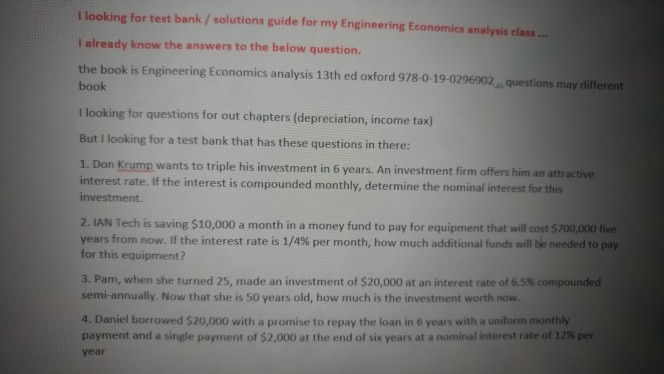 Solved: I Looking For Test Bank/ Solutions Guide For My En