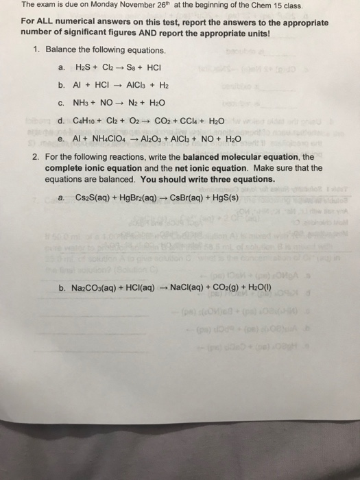 Solved: Which 3  In The Following Reactions, Identify Whic
