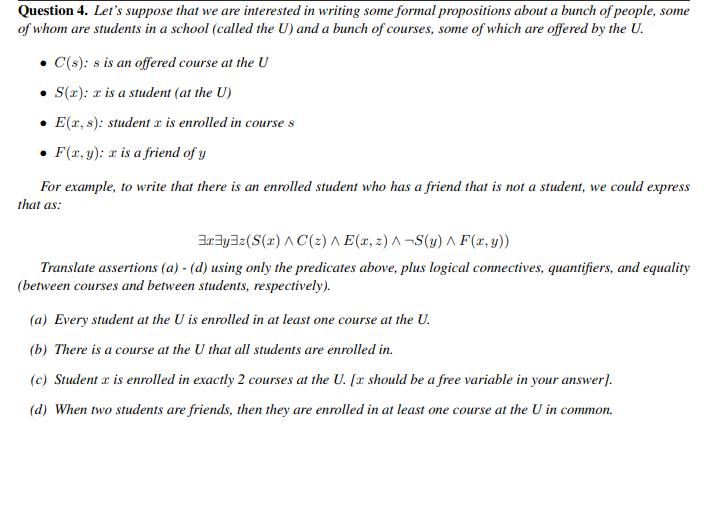 Solved: Discrete Mathematics - Propositions  Hello Chegg E