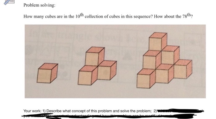 Solved: Problem Solving How Many Cubes Are In The Loth Col