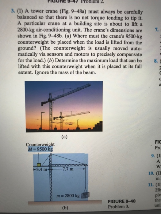 Physics archive december 12 2017 chegg 1 answer figure 9 47 problem 2 3 1 a tower crane fig fandeluxe Gallery