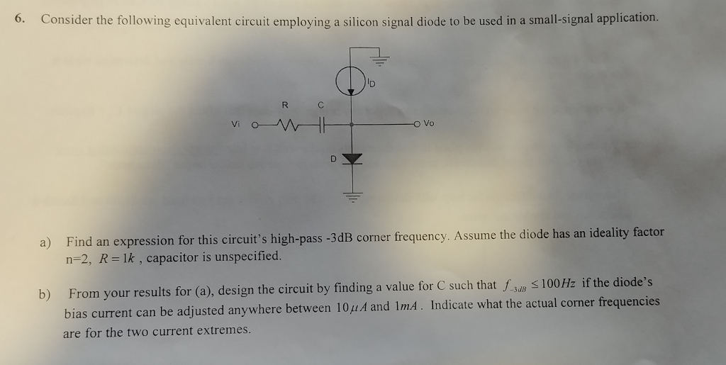 The Results Suggest The Following Equivalent Circuit For A ... on