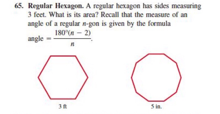 Hexagon With 2 Parallel Sides