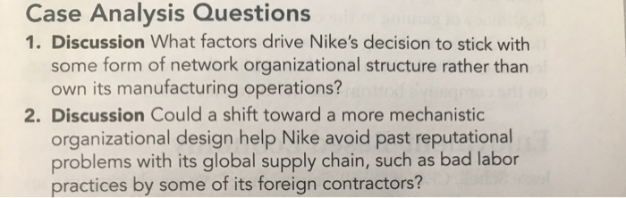 Case Analysis Questions 1  Discussion What Factors