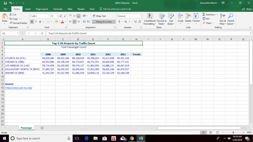 Solved: In Microsoft Excel 2016: Complete Capstone Exercis