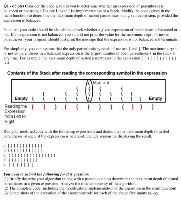 Solved Q1 65 Pts Consider The Code Given To You To Deter