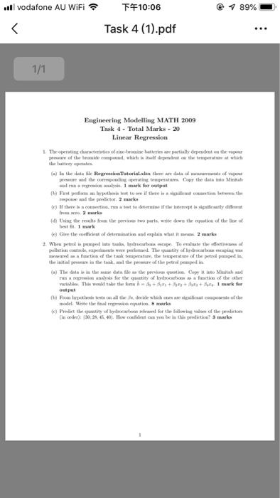 ร 89% Vodafone AU WiFi FF10:06 Task 4 (1) pdf En    | Chegg com