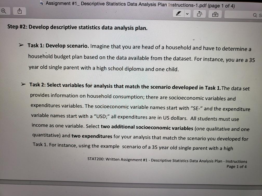 Assignment 1 Descriptive Statistics Data Analysi Cheggcom