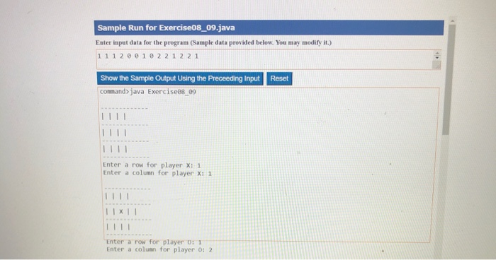 Solved: Code And Upload Exercises 8 9 (Game: Tic-Tac-Toe