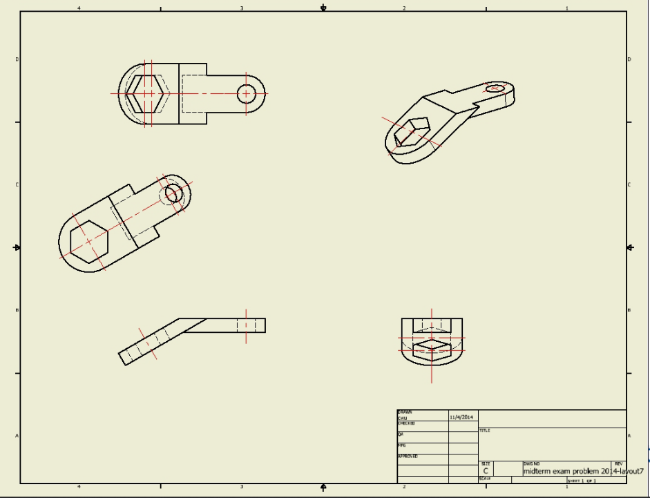 Sketch The Following 3D Object In AutoCAD Inventor    | Chegg com