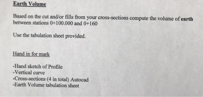 Cut & Fill Drafting I Nstructions Road Profile Use
