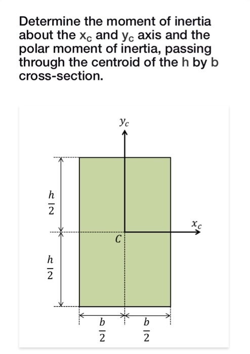 Solved: Determine The Moment Of Inertia About The Xc And Y