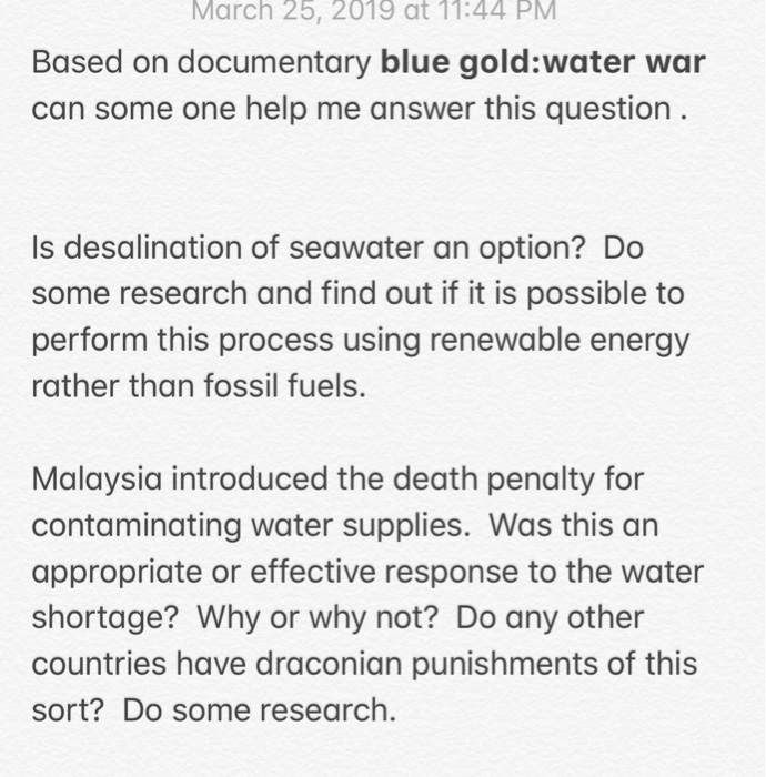 Solved: March 25, 2019 At 11:44 PM Based On Documentary Bl