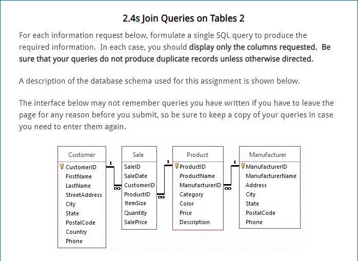 02bce30844e3 2.4s Join Queries on Tables 2 For each information request below