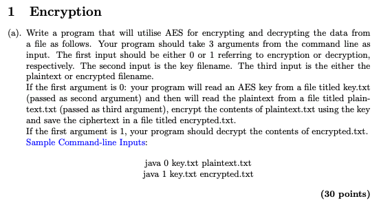 Solved: 1 Encryption (a)  Write A Program That Will Utilis