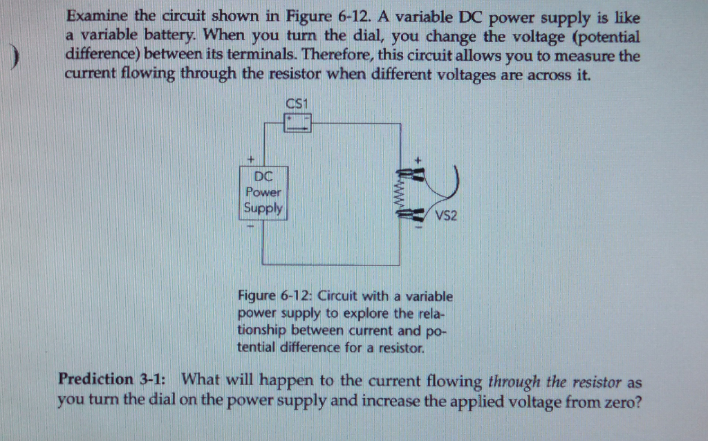 Solved: Examine The Circuit Shown In Figure 6-12  A Variab