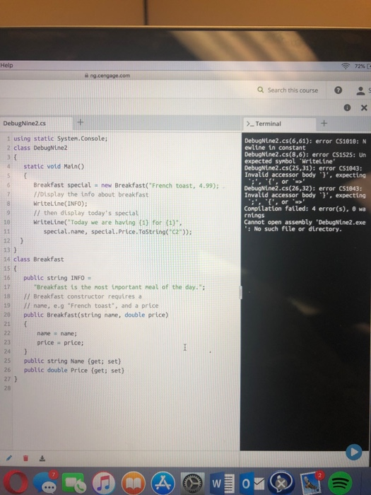 Solved: Debug This Program And Check The Two Test Cases Wh