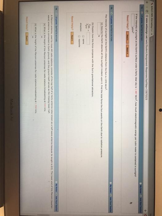 Solved: BONus Hws Alternating Curr X C Www webassign net/w