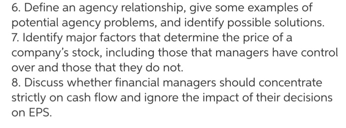 what is agency relationship in finance