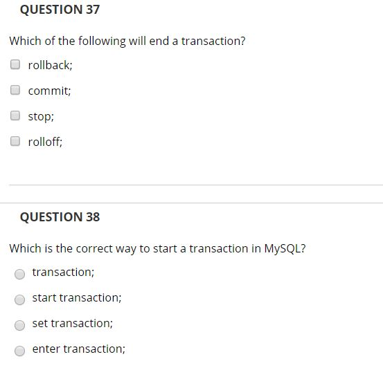 Solved: QUESTION 35 Php Statements End With A? Colon O Lin
