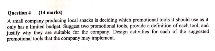 Solved: Question 4 (14 Marks) A Small Company Producing Lo