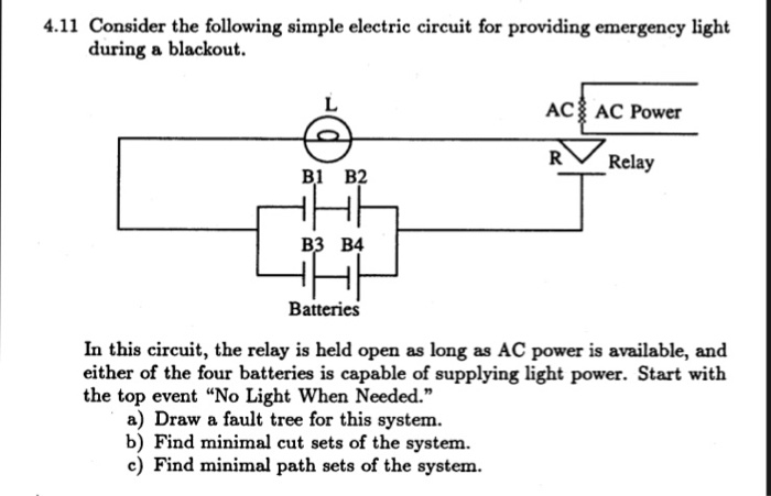 Solved: Consider The Following Simple Electric Circuit For ...