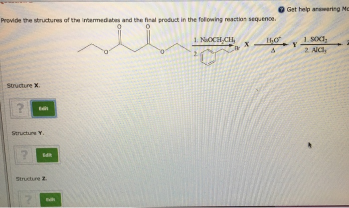 Solved: Provide The Structures Of The Intermediates And Th ...