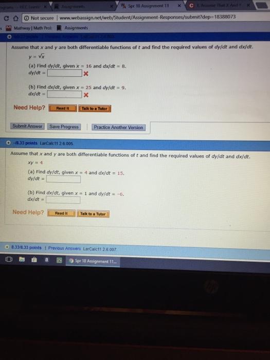Solved: 11 X С Not Secure Www.webign.net/web/Student As ... on