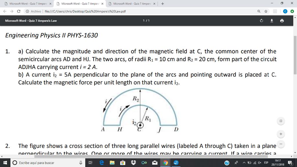 Solved: Microsoft Word-Quiz 7 Ampere × H Microsoft Word-Qu