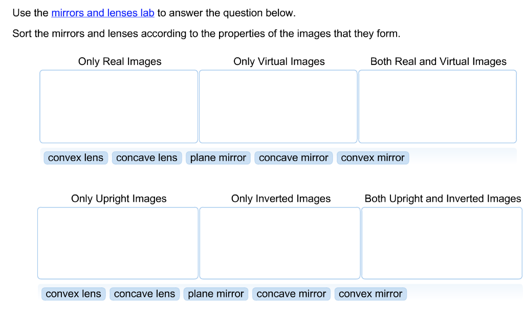 Solved  Use The Mirors And Lenses Lab To Answer The Questi
